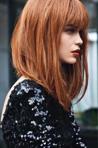 Long Inverted Bob with Bangs Ideas