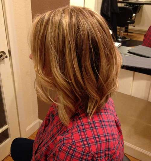 Best Long Inverted Bob with Layers