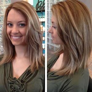 Long Inverted Layered Bob Hairstyles