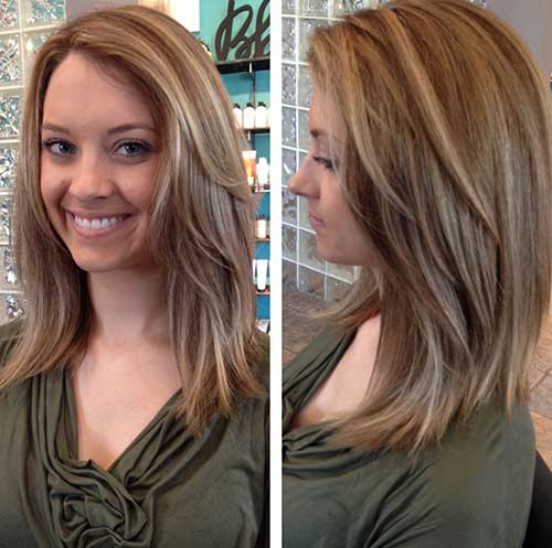 Long Inverted Layered Bob Hairstyles