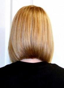 Medium Fine Hair Bob Back View