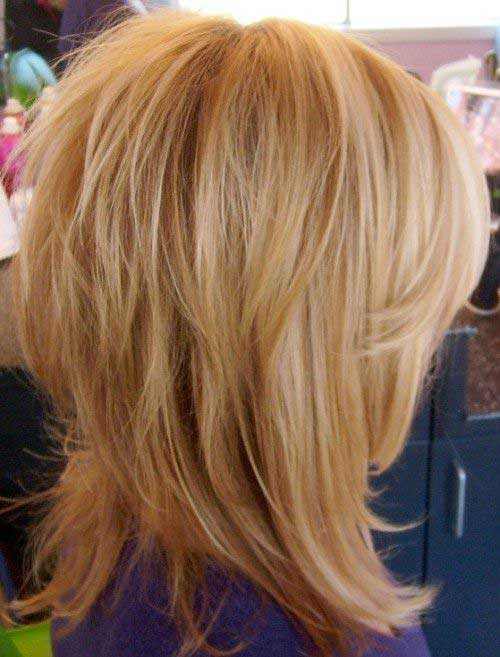 Medium Fine Layered Hair Bob Cuts