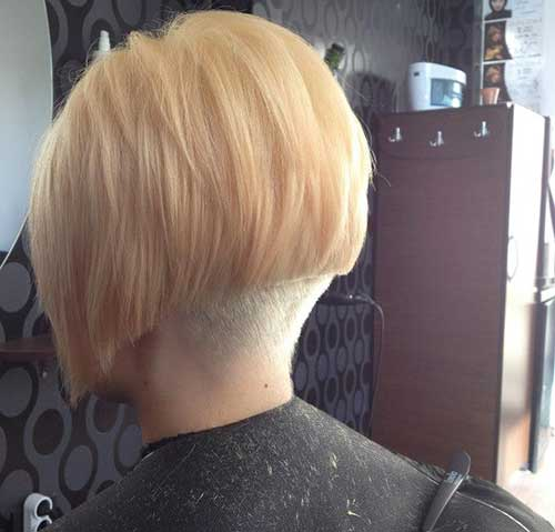 Chic Nape Shaved Bob