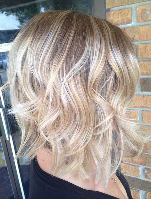 Nice Curly Bob Hair Side View 2015