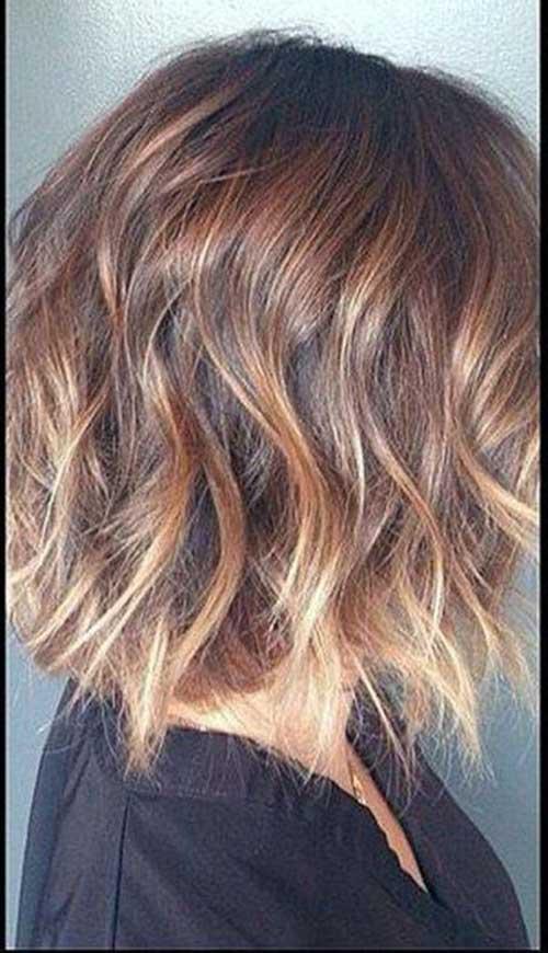 Ombre Balyage Wavy Bob Hairstyles