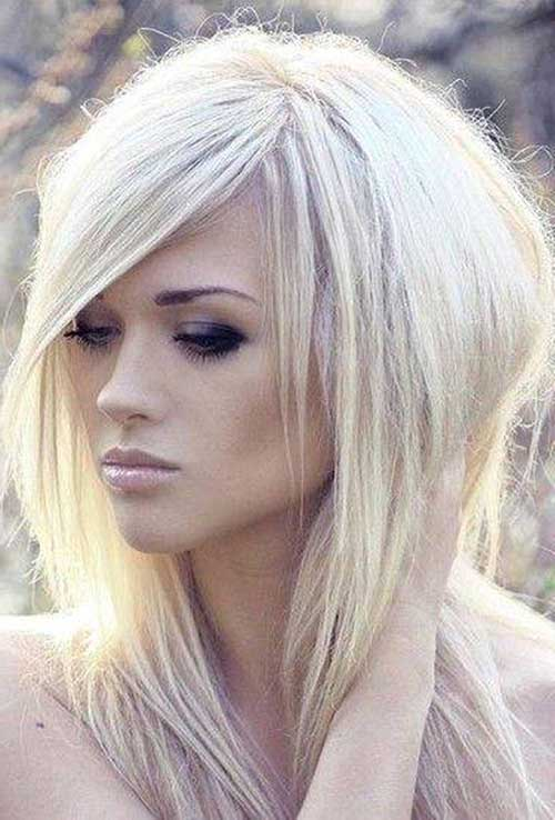 Platinum Blonde Long Bob Hairstyles 2015