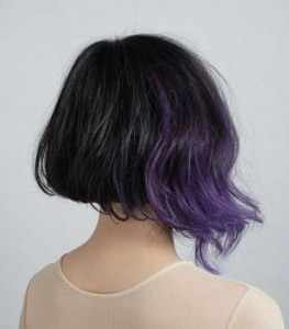Purple Light Nice Bob Hairstyles 2014
