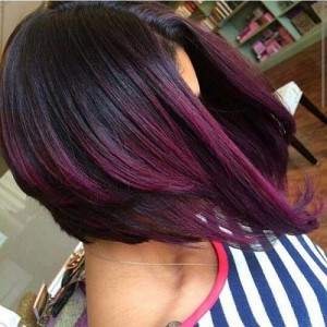 Red Ombre Bob Hairstyles
