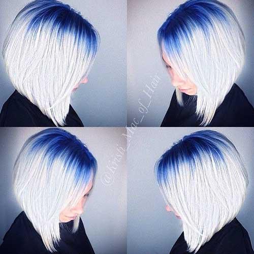 Reverse Ombre Blue Bob Hair