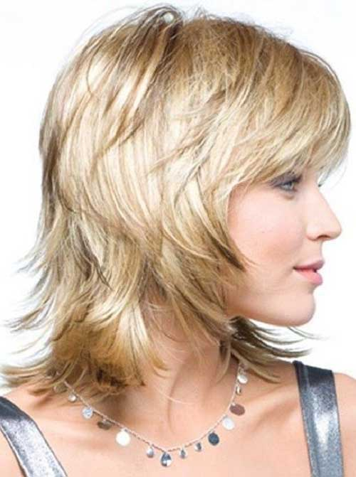 Shaggy Long Layered Bob Haircuts with Bangs