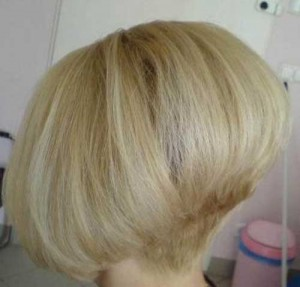 Shaved Nape Blonde Bob Haircut