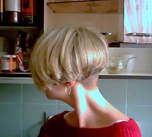 Shaved Nape Short Bob Haircuts