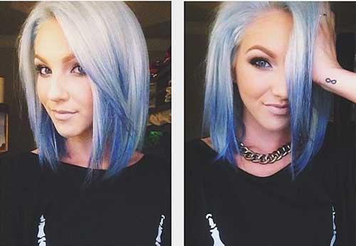 Short Blue Ombre Bob Hair Color