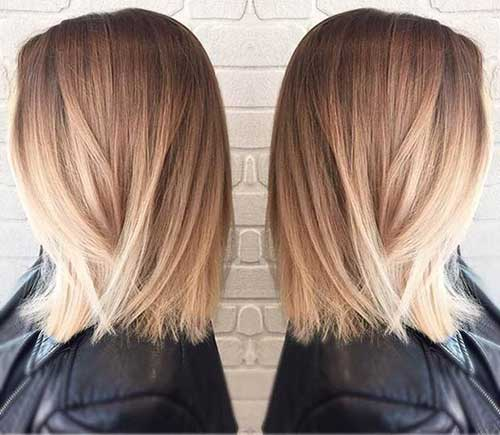 Short Bob Balyaged Ombre Style