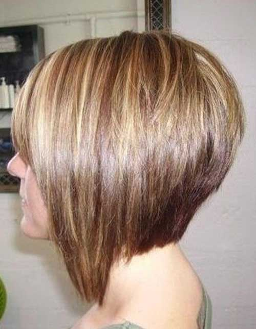 Short Graduated Bob Back View