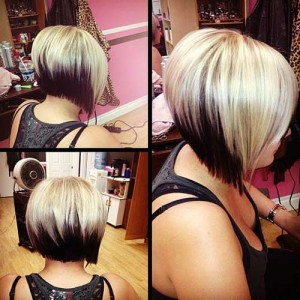 Short Graduated Bob with Two Colors Ideas