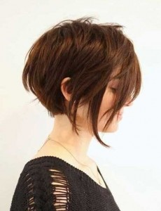 Short Layered Brown Bob Haircuts 2014-2015