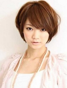 Thick Short Layered Bob Hairstyles for Round Faces