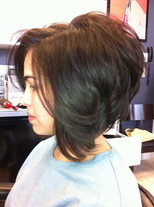 Short Stacked Dark Bobs