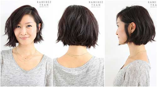 Short Wavy Dark Bob Hairstyles