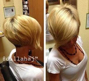 Side Swept Blonde Bob Hairstyles