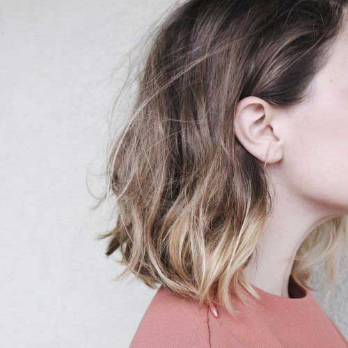 Soft Wavy Ombre Bob Hairstyles