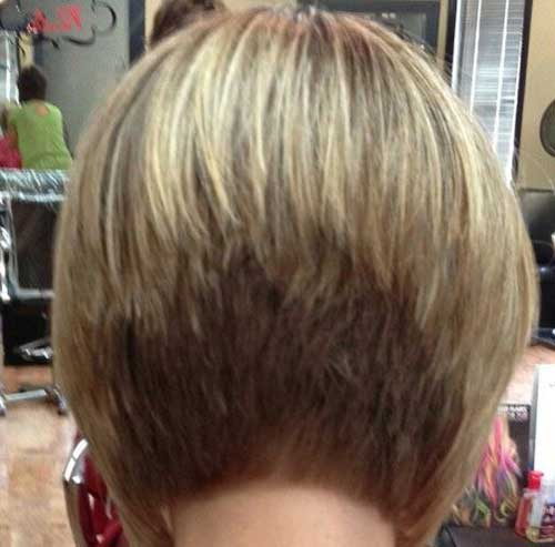 Stacked Layered Bob Back View Look