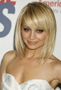 Straight Hair Long Bob with Side Swept Bangs Ideas