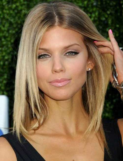 Straight Medium Length Bob Hairstyles for Fine Hair