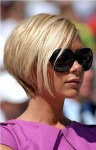 Straight Short Blonde Layered Bob Hair