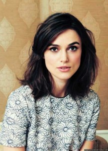 Thick Wavy Long Bob with Side Swept Bangs