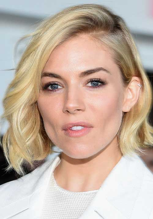 Tousled Side Swept Bob Hairstyles