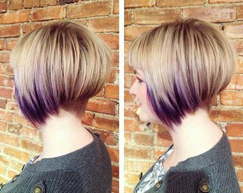 Trendy Shaved Nape Bob Haircuts