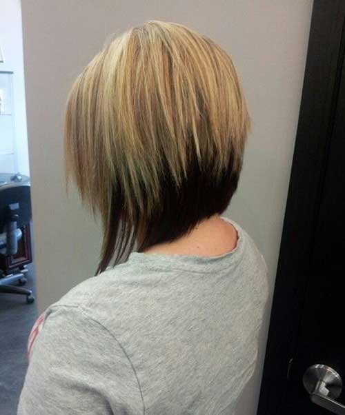 Two Colored Graduated Bob Hair