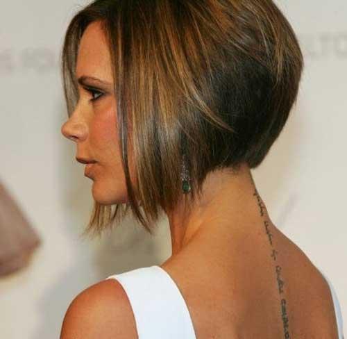 Victoria Beckham Reverse Bob Hairstyles