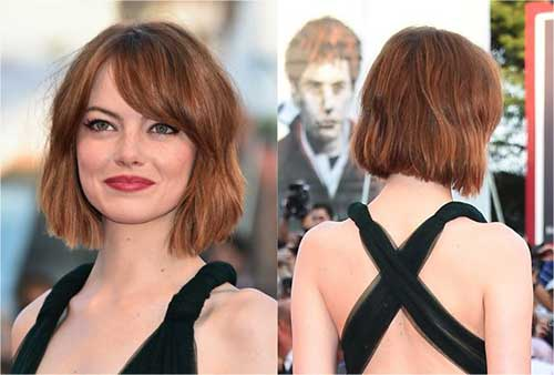 Short Bob Hairstyles with Side Swept Bangs-18