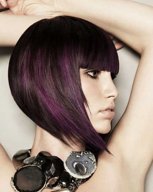Angular Dark Bob Hairstyles