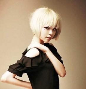 Asian Blunt Bob Blonde Hairstyles