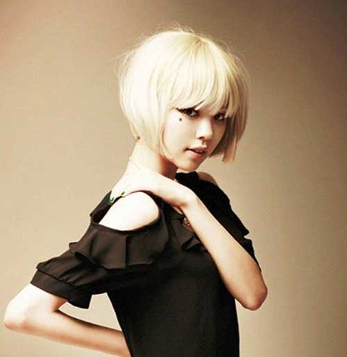 Asian Blunt Bob Blonde Hairstyles