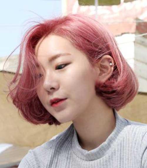 Asian Pink Bob Hairstyles