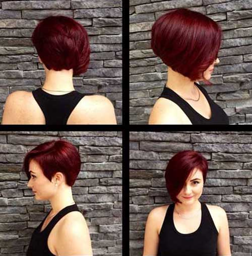 Asymmetrical Bob Haircuts for Girls