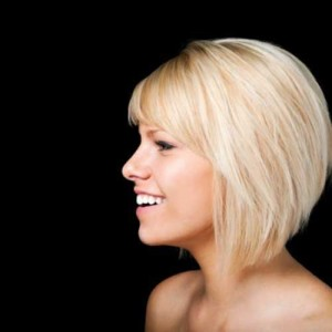 Blonde Bob Cut Hairstyle for Women
