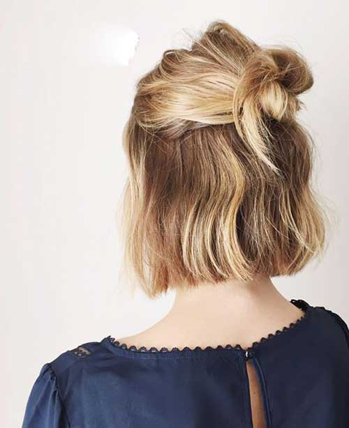 Best Blonde Bob Half Bun