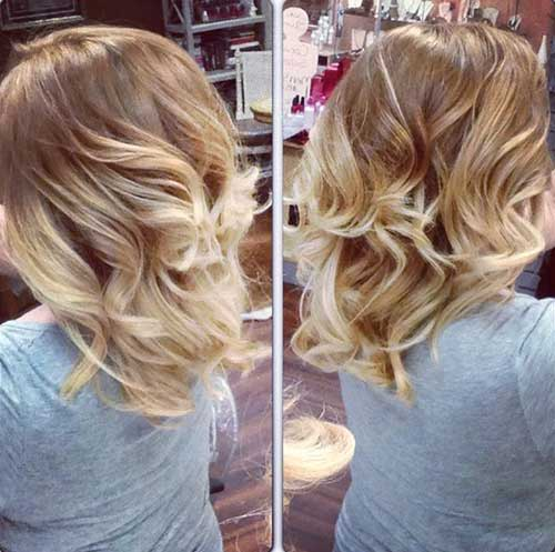 Blonde Ombre Curly Wavy Bob Hairstyles