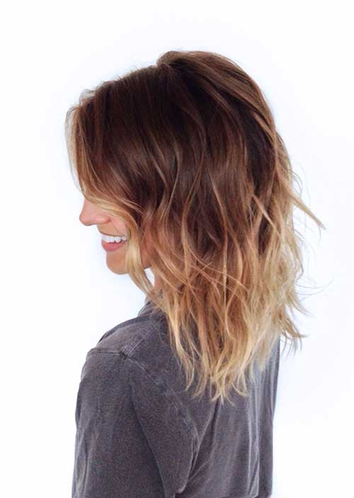 Blonde Ombre Medium Bob Hairstyles