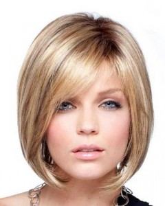 Blonde Short Hair Chin Length Bob Hairstyles