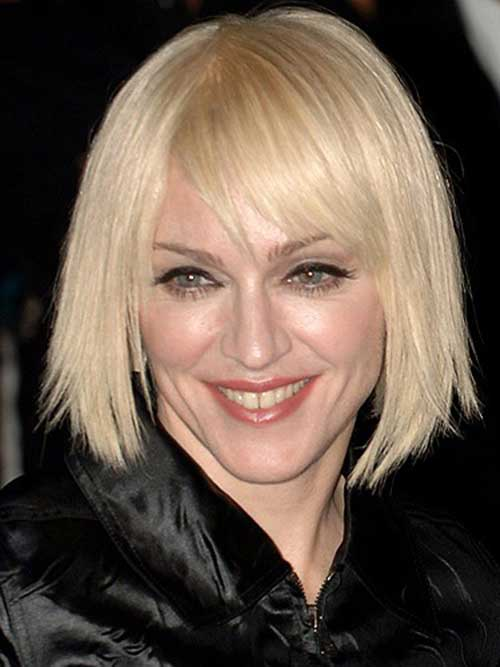 Blunt Bob Hairstyles with Side Bangs Pictures