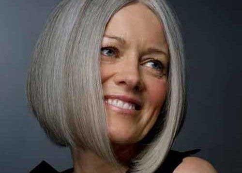 Blunt Bob Hairstyles for Older Women
