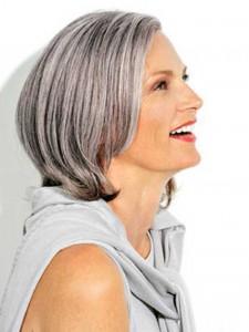 Silver Bob for Older Women
