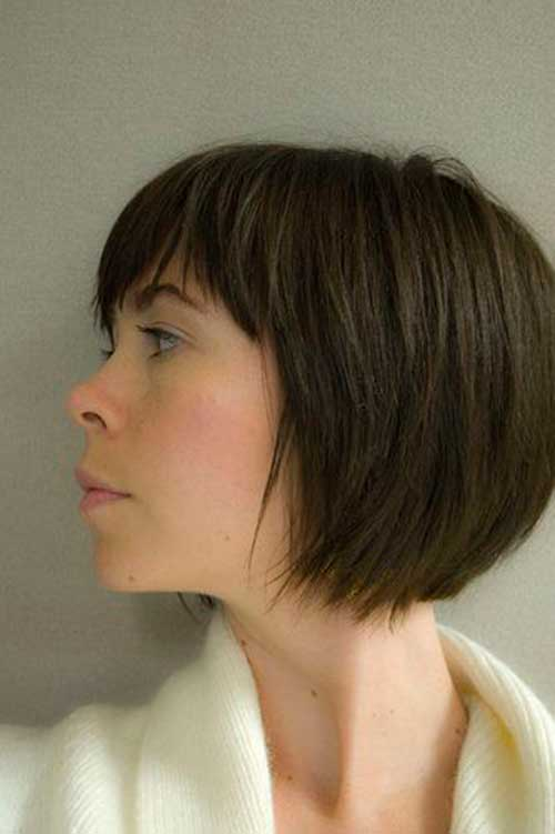 Brown Blunt Bob Hairstyles